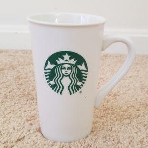 Starbucks White 16 fl oz Ceramic Tall Cup